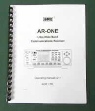 AOR AR-ONE Operating Manual - Premium Card Stock Covers & 28lb Paper!