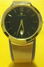 Mens J.B Champion Gold Ultra Thin Watch