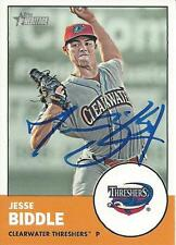Jesse Biddle Philadelphia Phillies 2012 Topps Heritage Signed Card