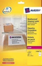 Avery laser weatherproof labels 4 Per Sheet 25 Sheets Per Box L7994-25
