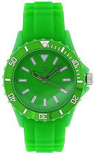 Reflex Green Silcone Strap Analogue Ladies - Unisex Sports Watch SR003