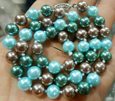 """8mm south sea Multicolor shell pearl necklace 18""""AAAR"""