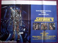 Cinema Poster: SATURN 3 1980 (Quad) Farrah Fawcett Kirk Douglas Harvey Keitel