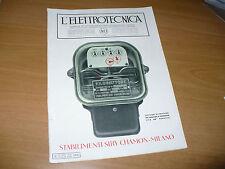 RIVISTA L'ELETTROTECNICA AEI N.20 10/1936 SIRY CHAMON CONTATORI DI PRECISIONE