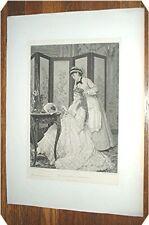 J E Saintin  INDISCREET SOUBRETTE Photogravure