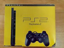 PlayStation 2 ps2 boxed black console all leads controller excellent condition