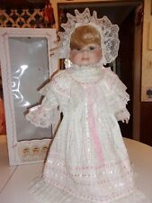 "3 FACED PORCELAIN BABY DOLL 21"" BY TUSS INC..MADE FOR CRACKER BARREL  STORES"