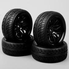 CA BBNK 1:10 RC On Road Racing Car Foam Rubber Tread Tires & Wheel Set 4PCS