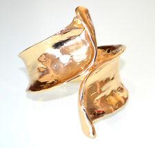 ca8fa64971d4 PULSERA ORO metal dorado brillante rígida esclava mujer brazalete armband  BB30