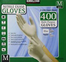 Kirkland Signature Nitrile Exam Gloves, Size Med. 200-Count (2-Pack)