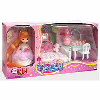 Little MIMI Rapunzel Bedroom Barbie Doll Role Play Korean Fairy toy Character