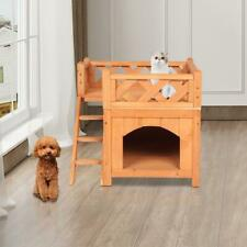 Dog Houses for Small Puppy Dogs Weatherproof Outside Dog Kennel w/ Roof