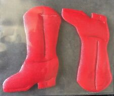 Red Western Cowboy Cowgirl Riding Boot Applique Patch Rodeo Equestrian