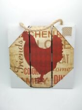 """Wood Hanging Sign Chicken Friends Love Rooster 7"""" #204"""