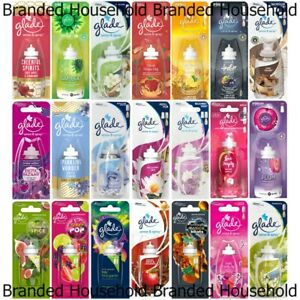8 x GLADE SENSE & SPRAY REFILLS AIR FRESHENER HOME OFFICE ROOM CHOOSE SCENT 18ML
