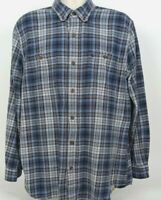 Carhartt Relaxed Fit L/S Shirt Plaid Check Blue Yellow Men's, Size XL