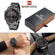 NAVIFORCE NF9024 Luxury Dual Men Quartz Watch Analog Digital LED Wristwatch +Box