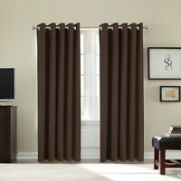 Thermal   Solar Blackout Heavy Duty Pair Of Eyelet Ring Top Curtains
