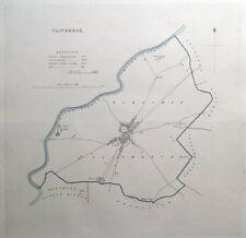 CLITHEROE, LANCASHIRE, ENGLAND, Street Plan, Dawson Original antique map 1832