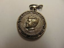 OLD RARE VINTAGE COIN TOKEN JOHN F KENNEDY KEY CHAIN OR NECKLACE