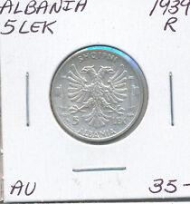 ALBANIA 5 LEK 1939 R - AU