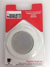 Ricambi guarnizioni caffettiera Bialetti 9 tz piastrina filtro 0109745/up  Rotex