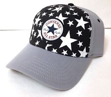 new CONVERSE ALL STAR CHUCK TAYLOR HAT Gray Black White Stars Snapback Men  Women 17425af8907d