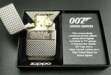 Zippo Lighter: James Bond 007, Limited Edition xxx/777, black ice, Armor Case