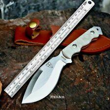 "Drop Point Knife Fixed Blade Hunting Combat Tactical Jungle G10 Fibers Handle 4"""