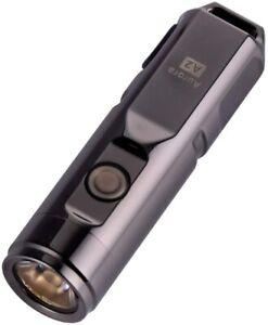 A2X Space Grey, 650 Lumens CREE XP-G3 LED Mini EDC Rechargeable Flashlight RovyV