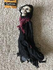 Halloween 25 cm pendant reaper squelette avec noir grande cape & Bordeaux