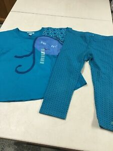 NWT NAARTJIE KIDS OUTFIT   BLUE EMBROID SHIRT &  KNIT CAPRI PANTS  SET   XL   7