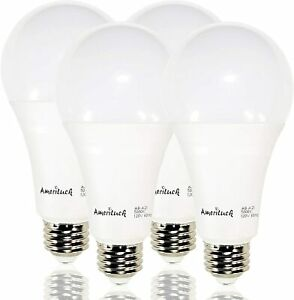 A21 LED Light Bulbs 3-Way 50/100/150W 5000K Daylight  Non-Dimmable 4 Pack