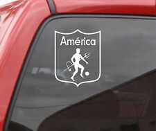 "AMERICA DE CALI 6"" Vinyl Decal White Car Truck Window STICKER Futbol Soccer"