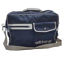 VINTAGE Adidas Tasche Bag Blau Made Jugoslavia Retro Sport Schultertasche '80s