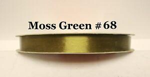 250 Yard Roll Sasheen 3M Satiny 7/8 Ribbon Wedding Party Blue Moss Green Purple