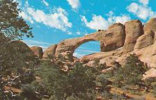 Chrome Postcard B023 Skyline Arch Arches National Monument UTAH Devils Garden