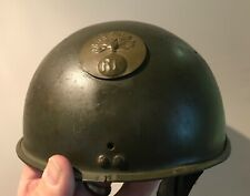WW2 French Army Dispatch Riders helmet - original paint etc. Pre-1940 issue