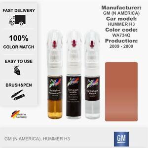 Car Touch Up Paint GM (N America) Hummer H3 Sonic Orange Code: WA734Q Fix Pen