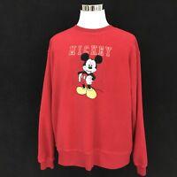 Vintage Disney Store Mickey Embroidered Fleece Pullover Men's/Women's Size XL