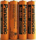 4 Panasonic NiMH 1.2V AAA 700 mAh Rechargeable Battery for Cordless Phones (x4)