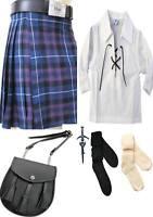Scottish Men Kilt 8 Yard 13oz Pride Of Scotland Tartan Kilt Deal Handmade Custom