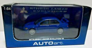 AUTOart 1/64th SCALE model Mitsubishi Lancer Evo Vii Evolution 7 Blue 20232