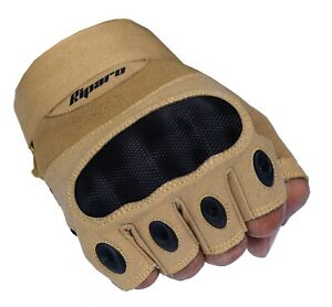 Riparo Women Tactical Fingerless Gloves Military Shooting Hunting Hard Knuckle