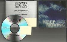 THE BOXER REBELLION Keep Moving RARE PROMO Radio DJ CD single 2013 USA MINT