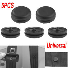 5X Universal Clip Seat Belt Stopper Buckle Button Fastener Safety Black Car Part