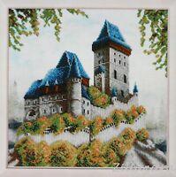 Altes Schloss Perlenstickbild Stickbild Stickpackung Perlen Preciosa 483