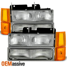 1994-1999 GMC C/K Pickup Suburban Sierra Headlights+Bumper+Corner Signal Lights