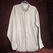 Chereskin Mens Extra Large Shirt Green Plaid Long Sleeve Dress Shirt