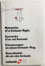 Vintage Booklet Memories Of A Swissair Flight Airlines Airplane 1981 Pamphlet